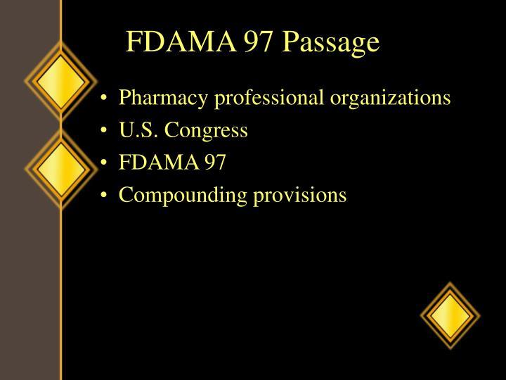 FDAMA 97 Passage