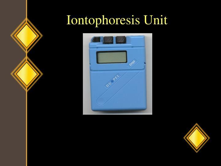 Iontophoresis Unit