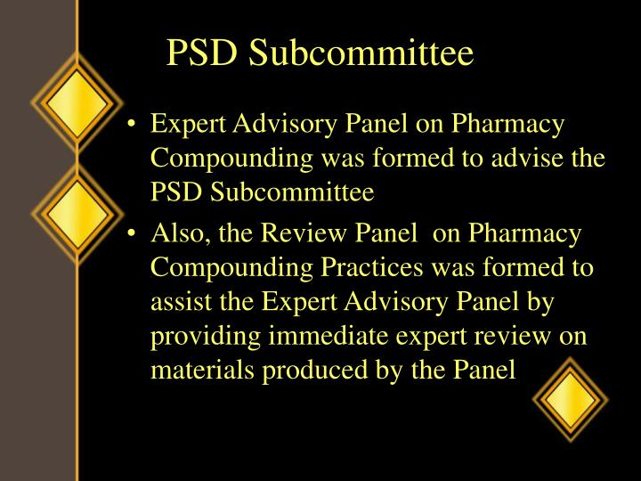 PSD Subcommittee