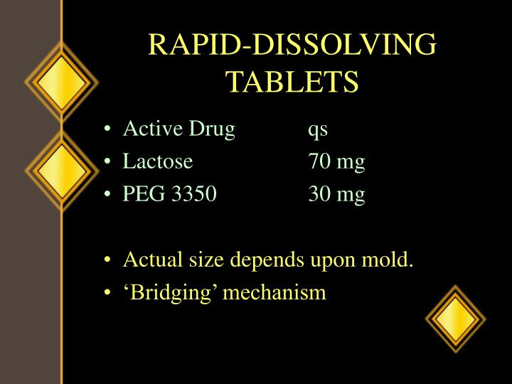 RAPID-DISSOLVING TABLETS