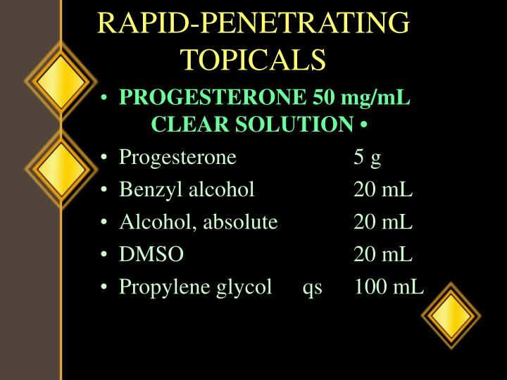 RAPID-PENETRATING TOPICALS