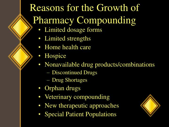 Reasons for the Growth of Pharmacy Compounding