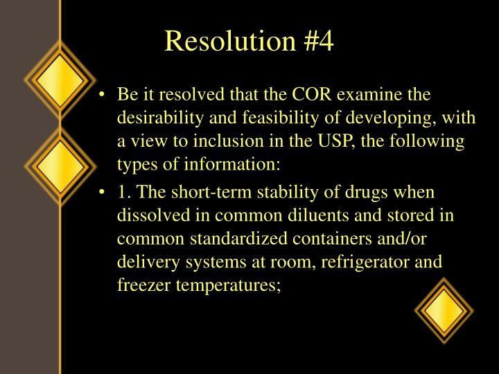 Resolution #4