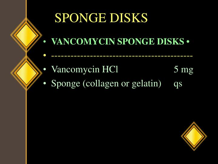 SPONGE DISKS