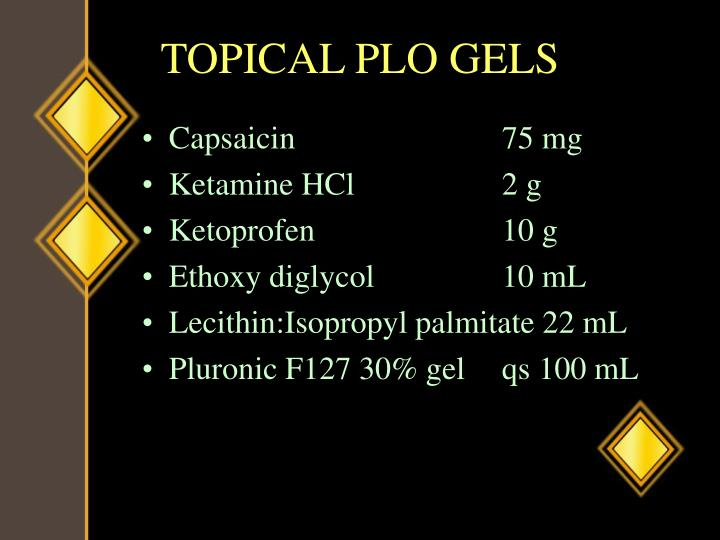 TOPICAL PLO GELS