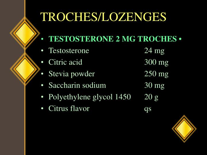 TROCHES/LOZENGES