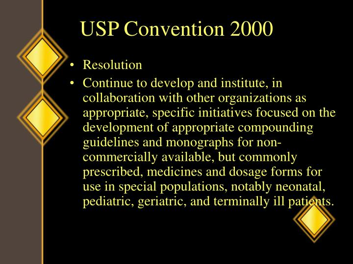 USP Convention 2000