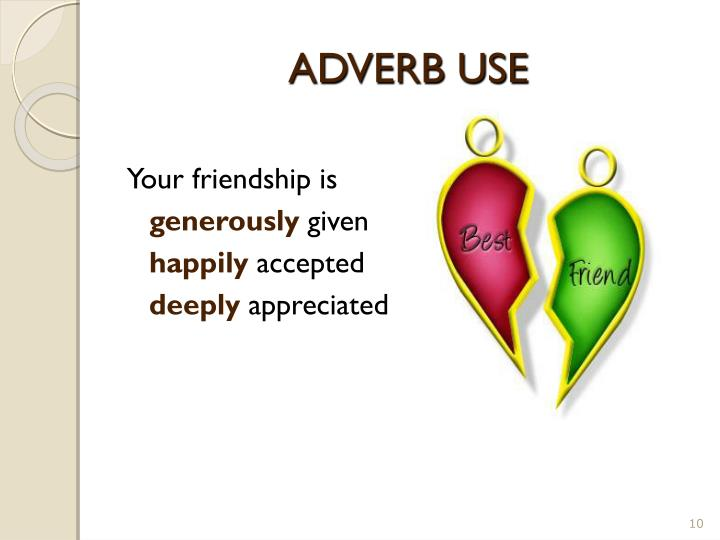 ADVERB USE