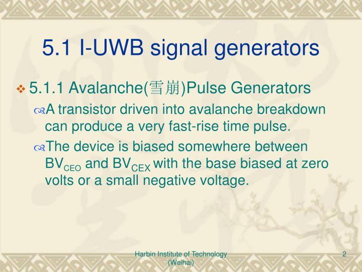 5.1 I-UWB signal generators