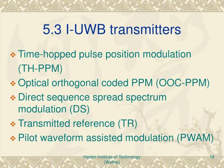 5.3 I-UWB transmitters
