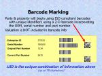 barcode marking