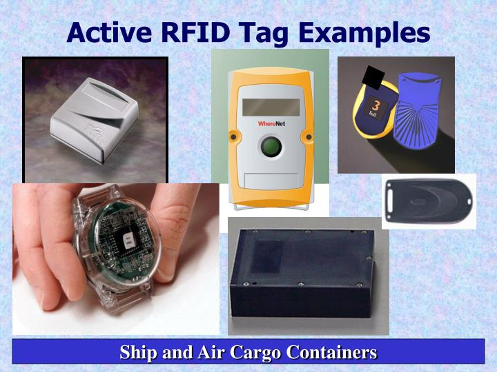 Active RFID Tag Examples