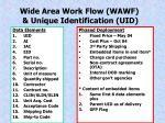 wide area work flow wawf unique identification uid