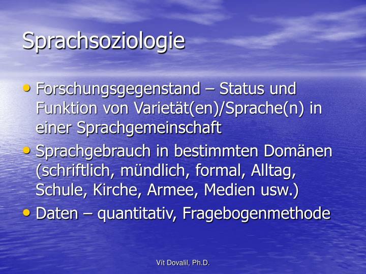 Sprachsoziologie