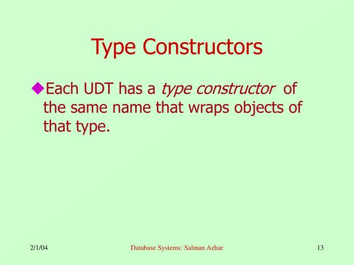 Type Constructors
