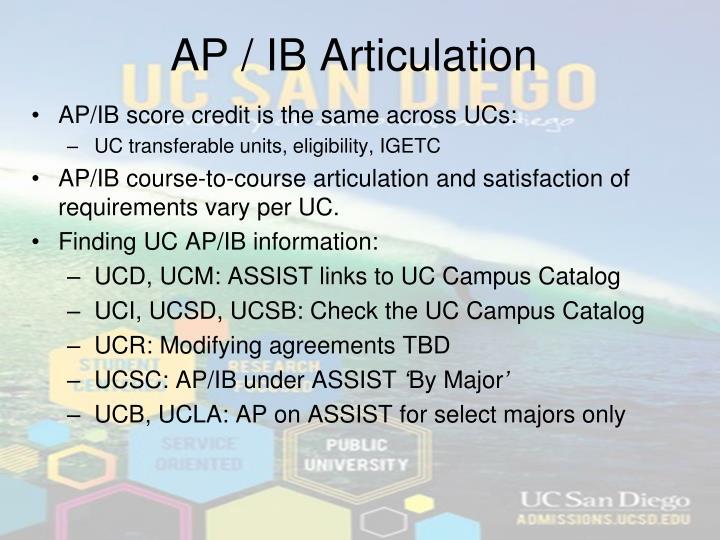 AP / IB Articulation