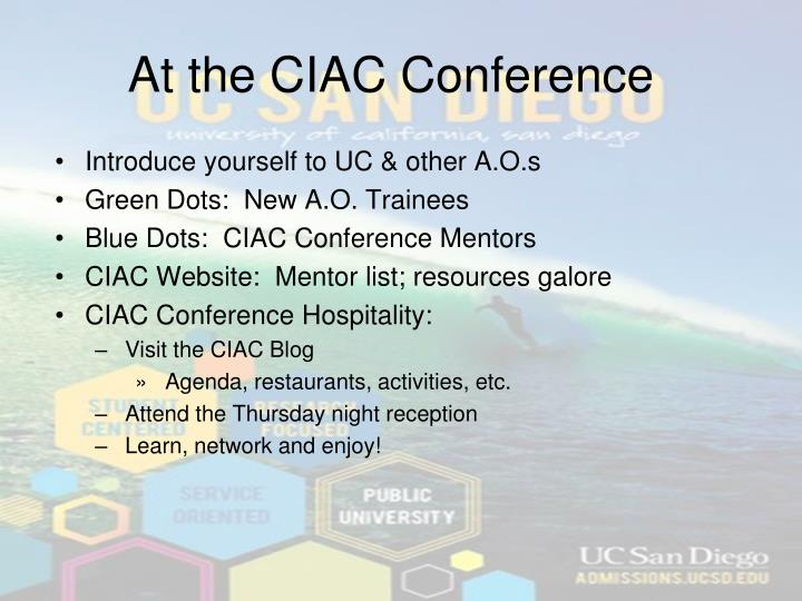 At the CIAC Conference