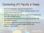 contacting uc faculty depts