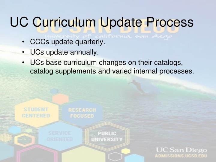 UC Curriculum Update Process