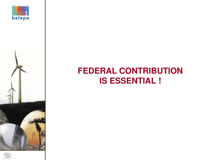 FEDERAL CONTRIBUTION