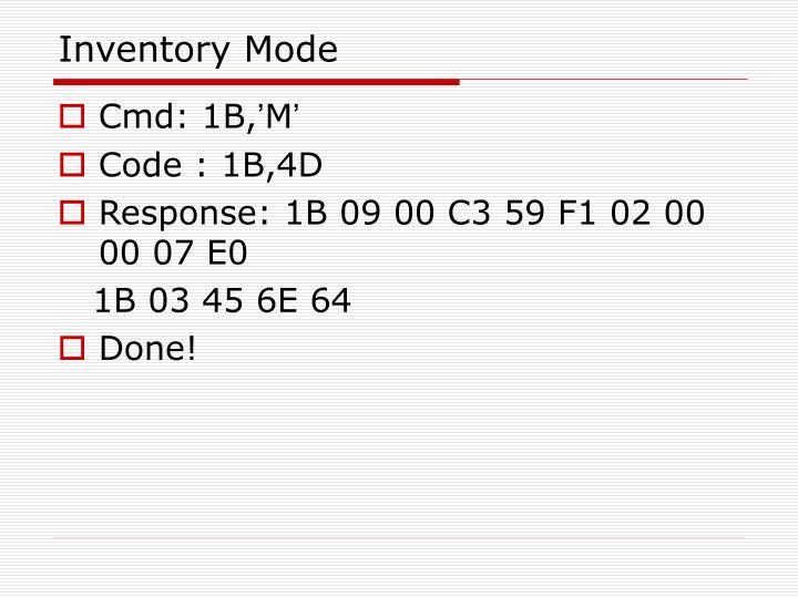 Inventory Mode
