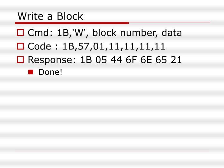 Write a Block