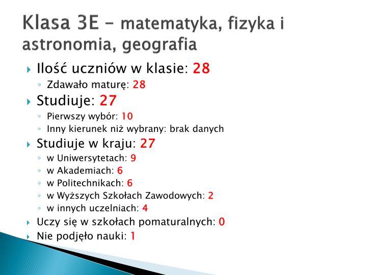 Klasa 3E –