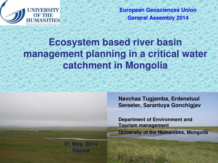 ecosystem based river basin management planning in a critical water catchment in mongolia