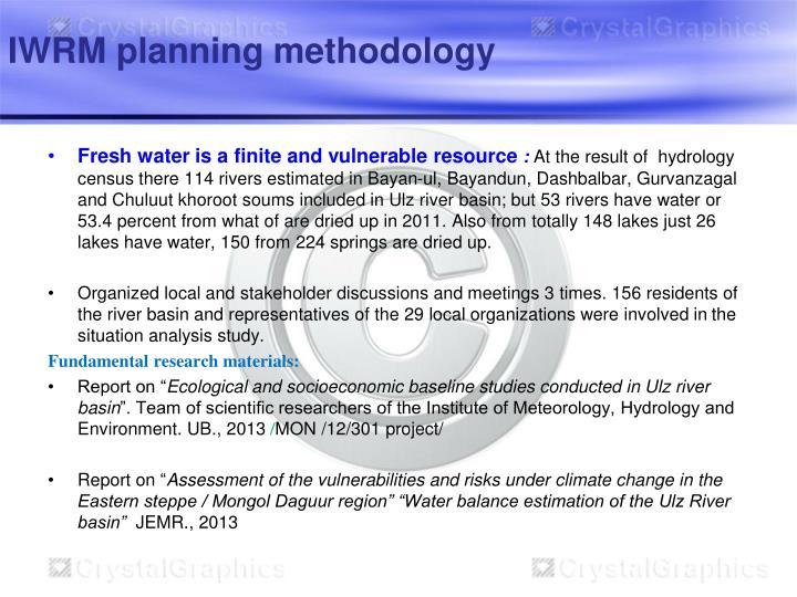 IWRM planning methodology