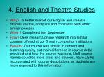 4 english and theatre studies