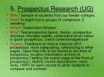 5 prospectus research ug