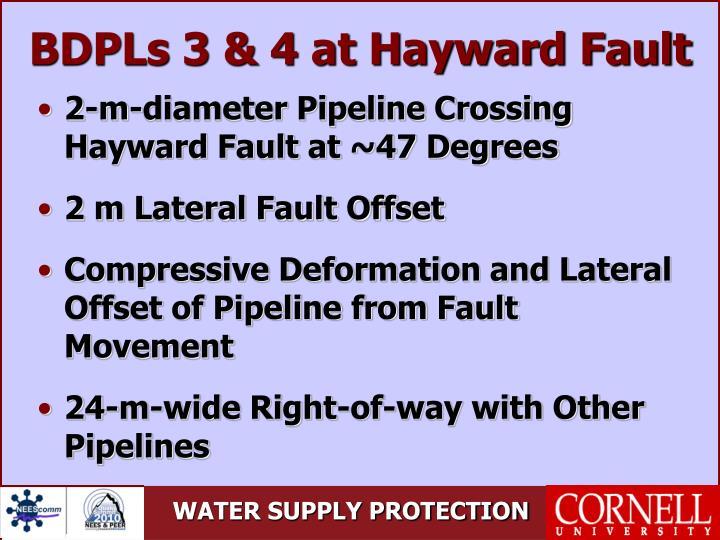 BDPLs 3 & 4 at Hayward Fault
