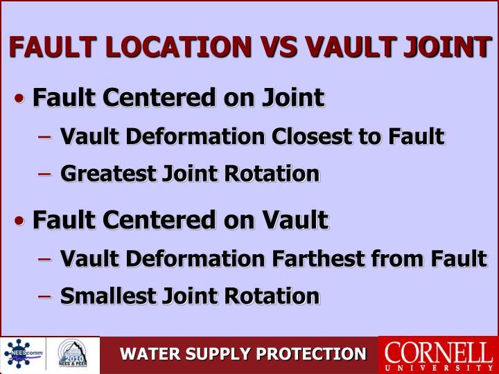FAULT LOCATION VS VAULT JOINT