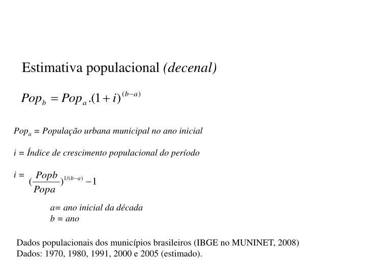 Estimativa populacional