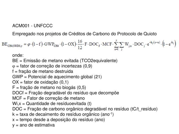 ACM001 - UNFCCC