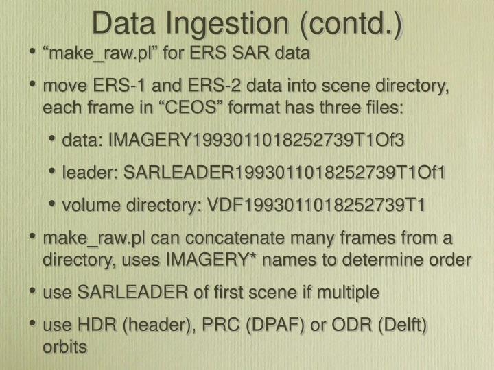 Data Ingestion (contd.)
