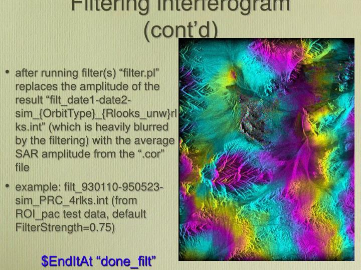 Filtering interferogram (cont'd)