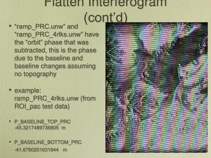 Flatten Interferogram (cont'd)