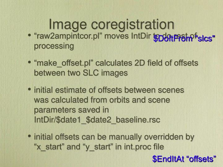Image coregistration