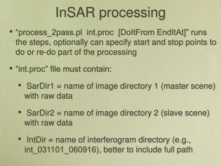 InSAR processing
