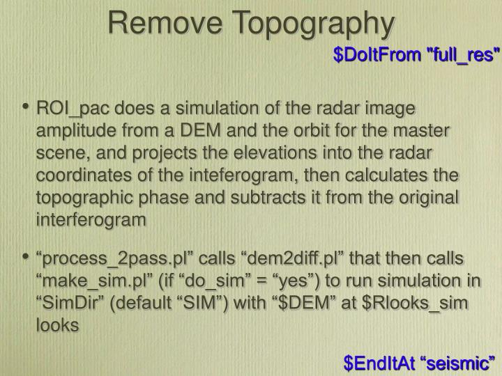 Remove Topography