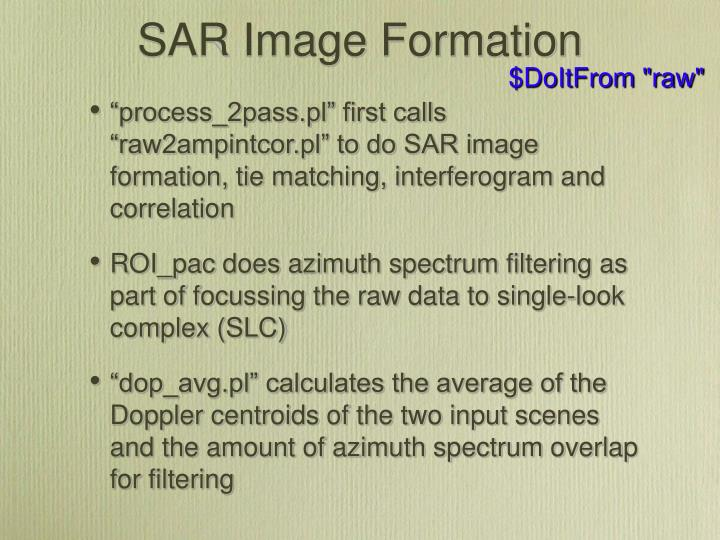 SAR Image Formation
