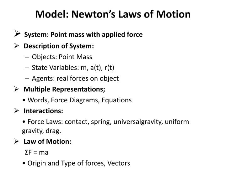 Model: Newton's Laws of Motion