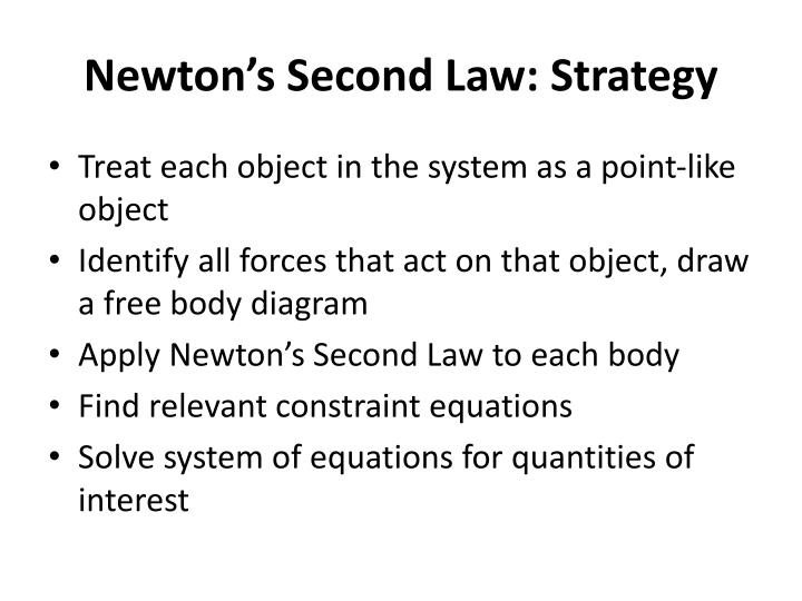 Newton's Second Law: Strategy
