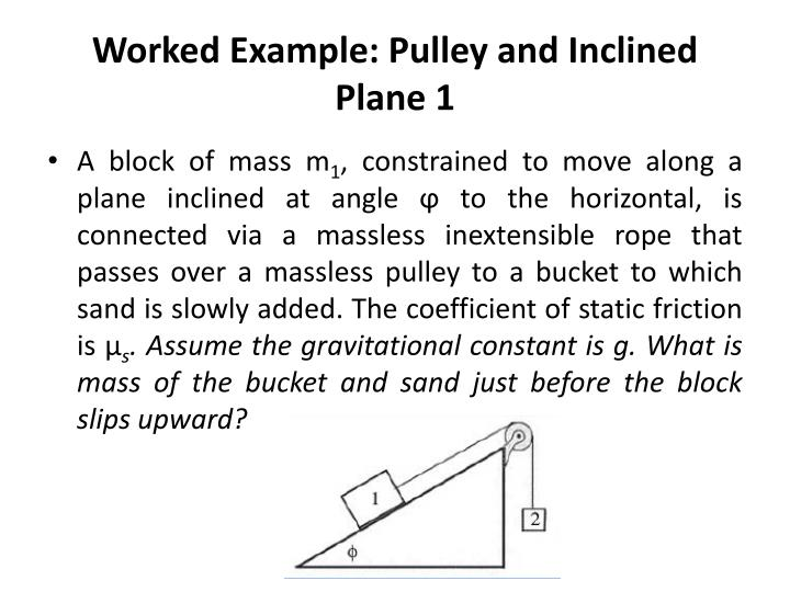 Worked Example: Pulley and Inclined Plane 1