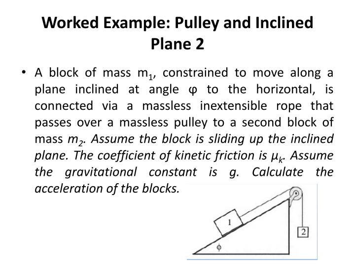Worked Example: Pulley and Inclined Plane 2