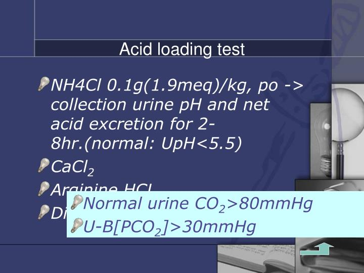 Acid loading test