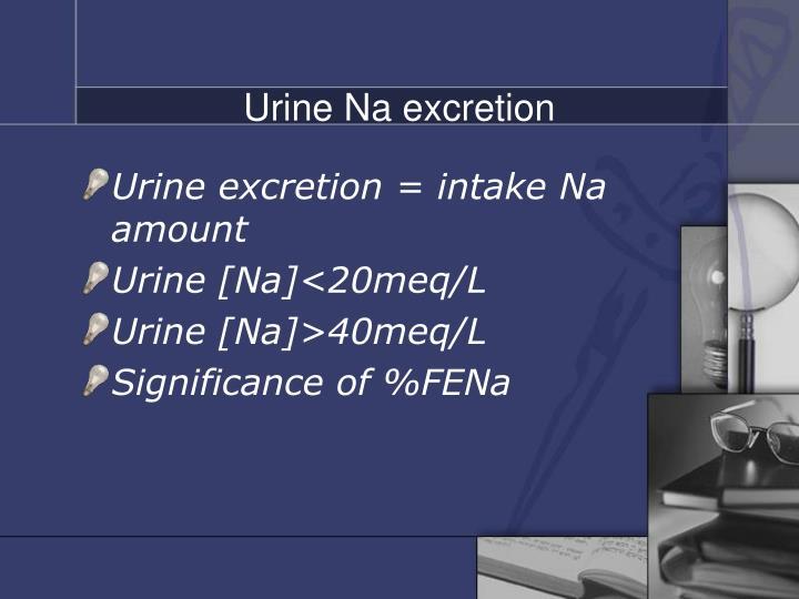 Urine Na excretion