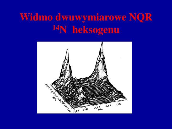 Widmo dwuwymiarowe NQR