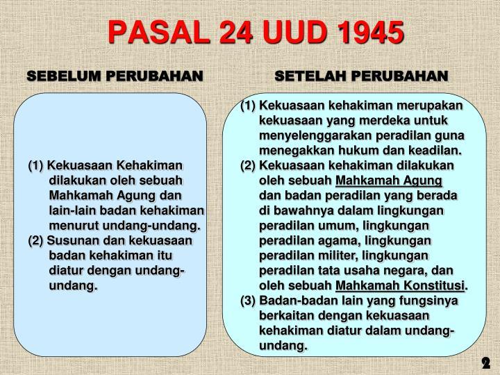 PASAL 24 UUD 1945
